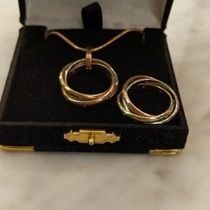 Ring and pendant necklace set